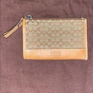 Coach signature mini skinny pouch
